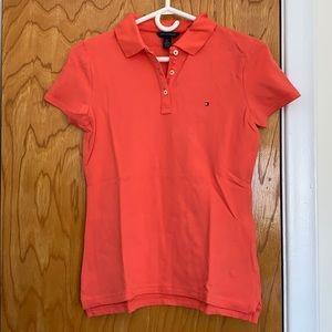Tommy Hilfiger // coral orange polo